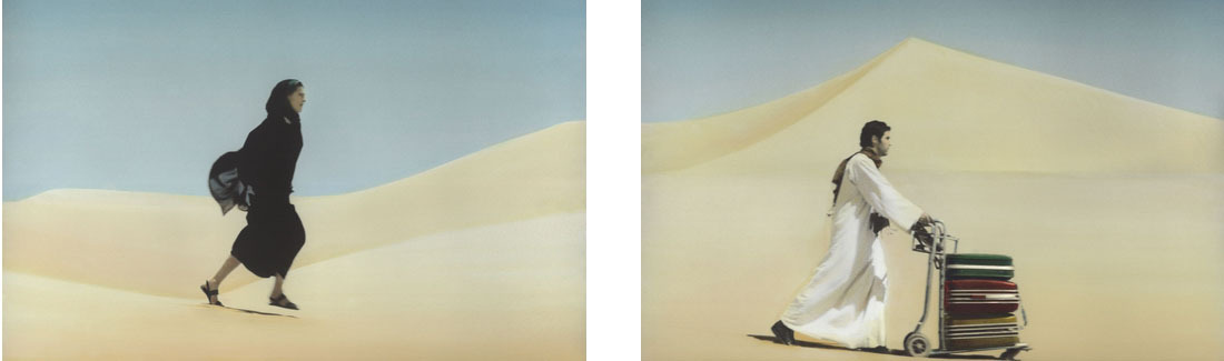 Youssef Nabil You Never Left I Diptych 2010 Hand coloured silver print 27x39cm Ed.1of10