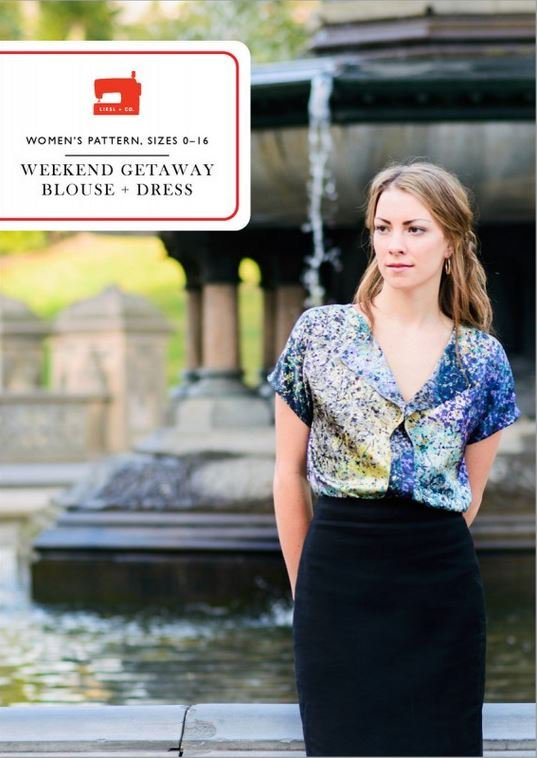 liesl and co  weekend getaway blouse and dress sewing pattern