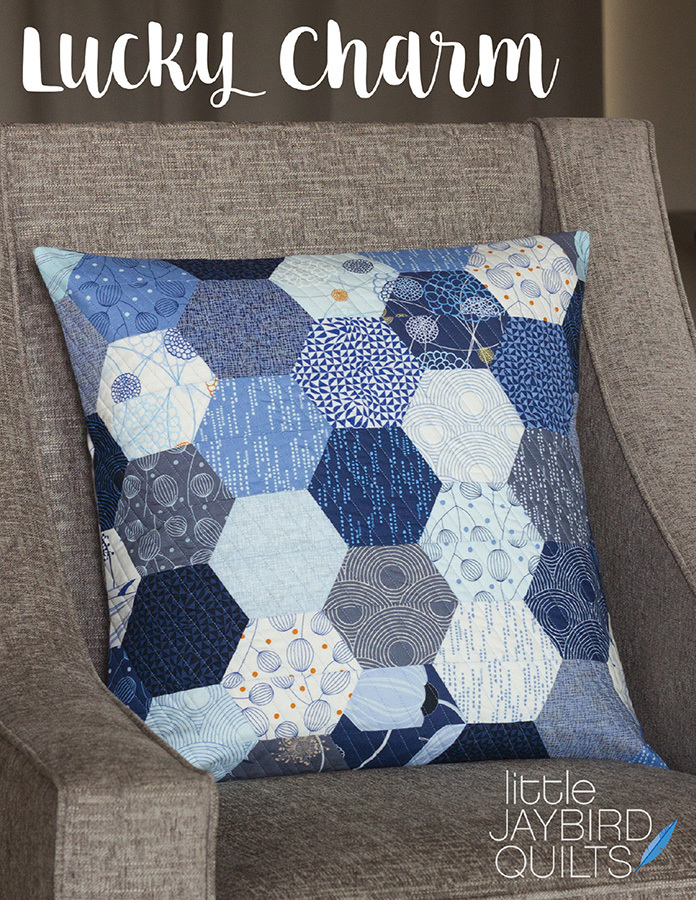 jaybird quilts  lucky charm 20 inch pillow sewing pattern