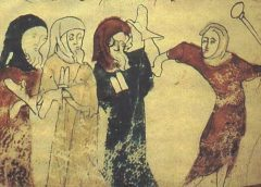 Jews being persecuted Rochester Chronicle 13th century