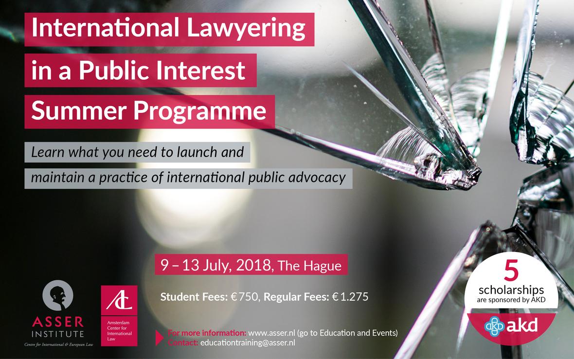 International Lawyering in a Public Interest Summer Programme 2018