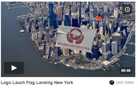 Logo Launch Flag Landing New York