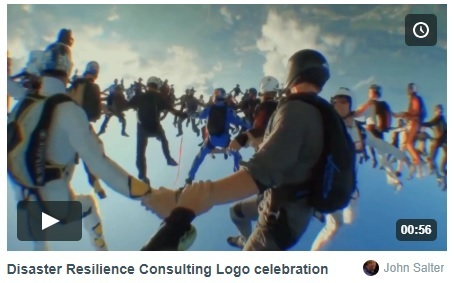 Logo celebration parachutists