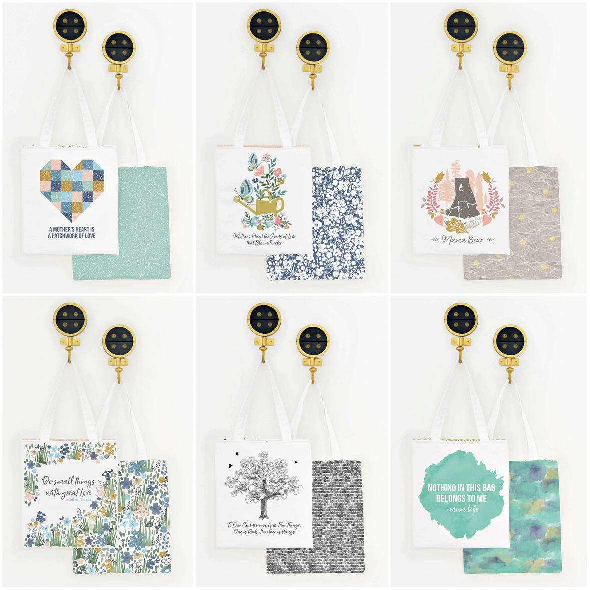 Mothers Day Tote Panels