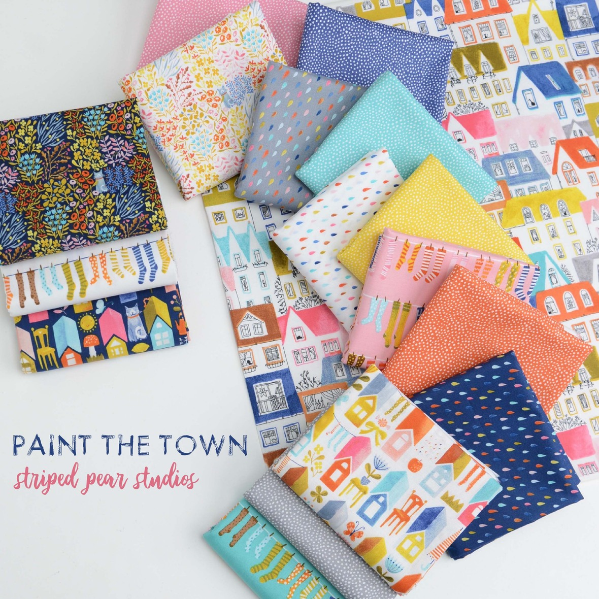 Paint the Town Fabric Poster Fotor