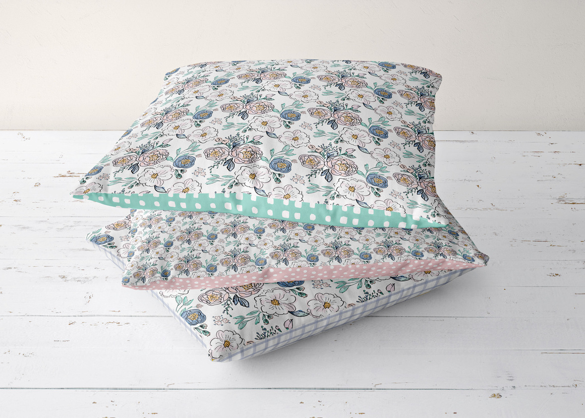 Blossoming Pillow Stack