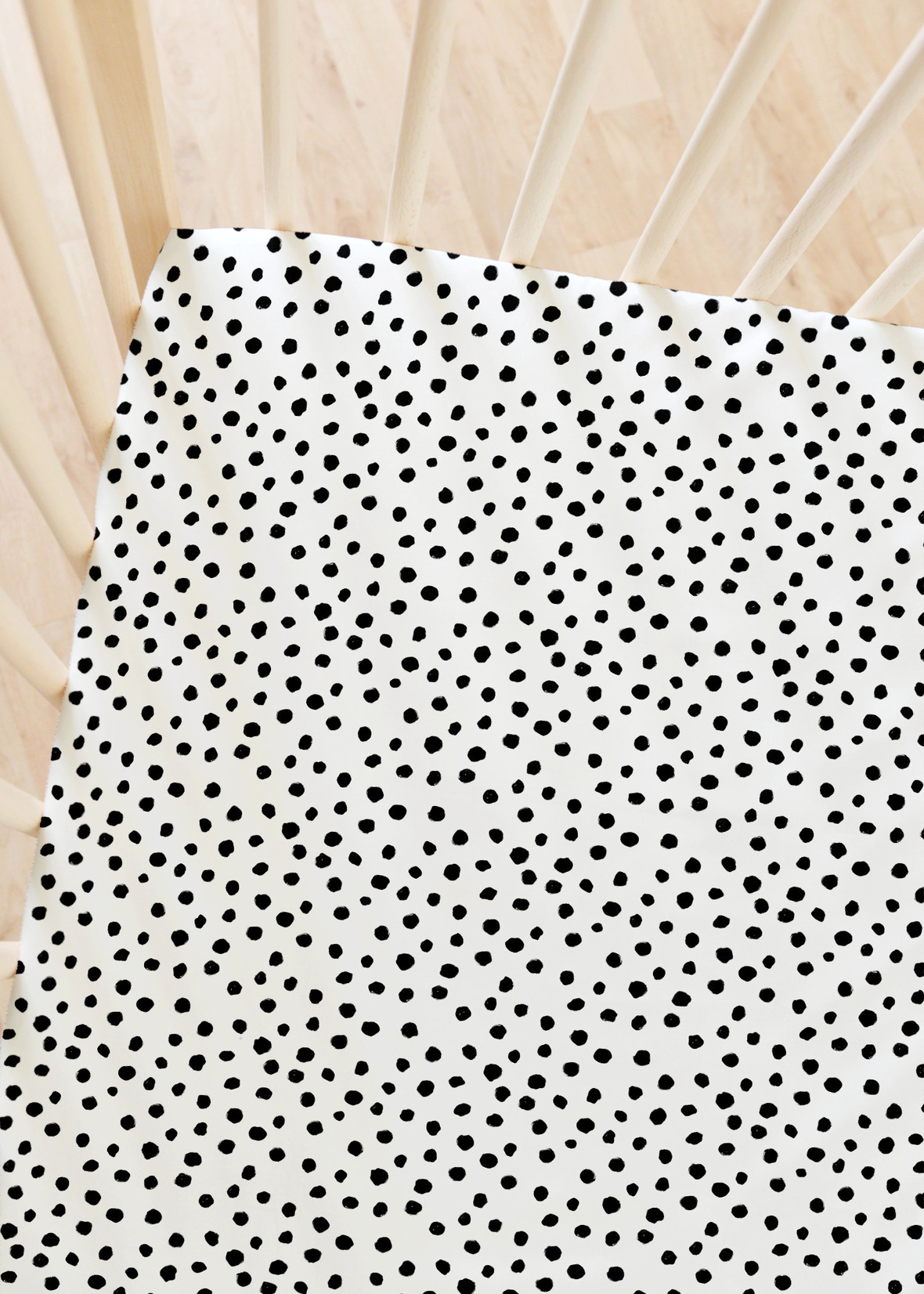 Modern Polka Dot in Black on White
