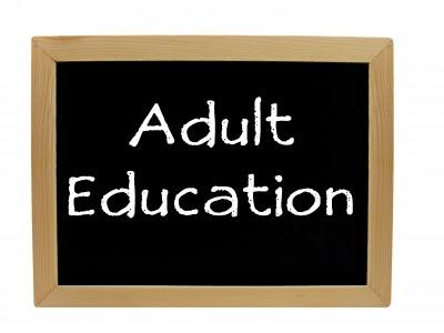 adult Ed chalk board