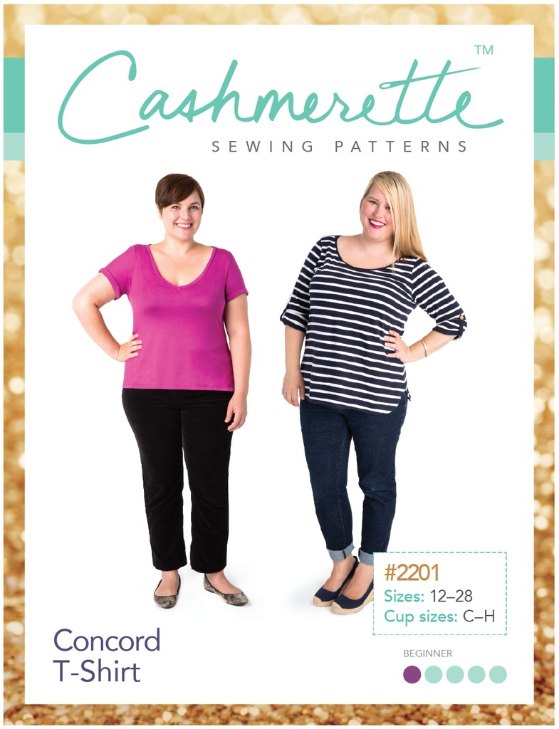 cashmerette  concord t shirt sewing pattern