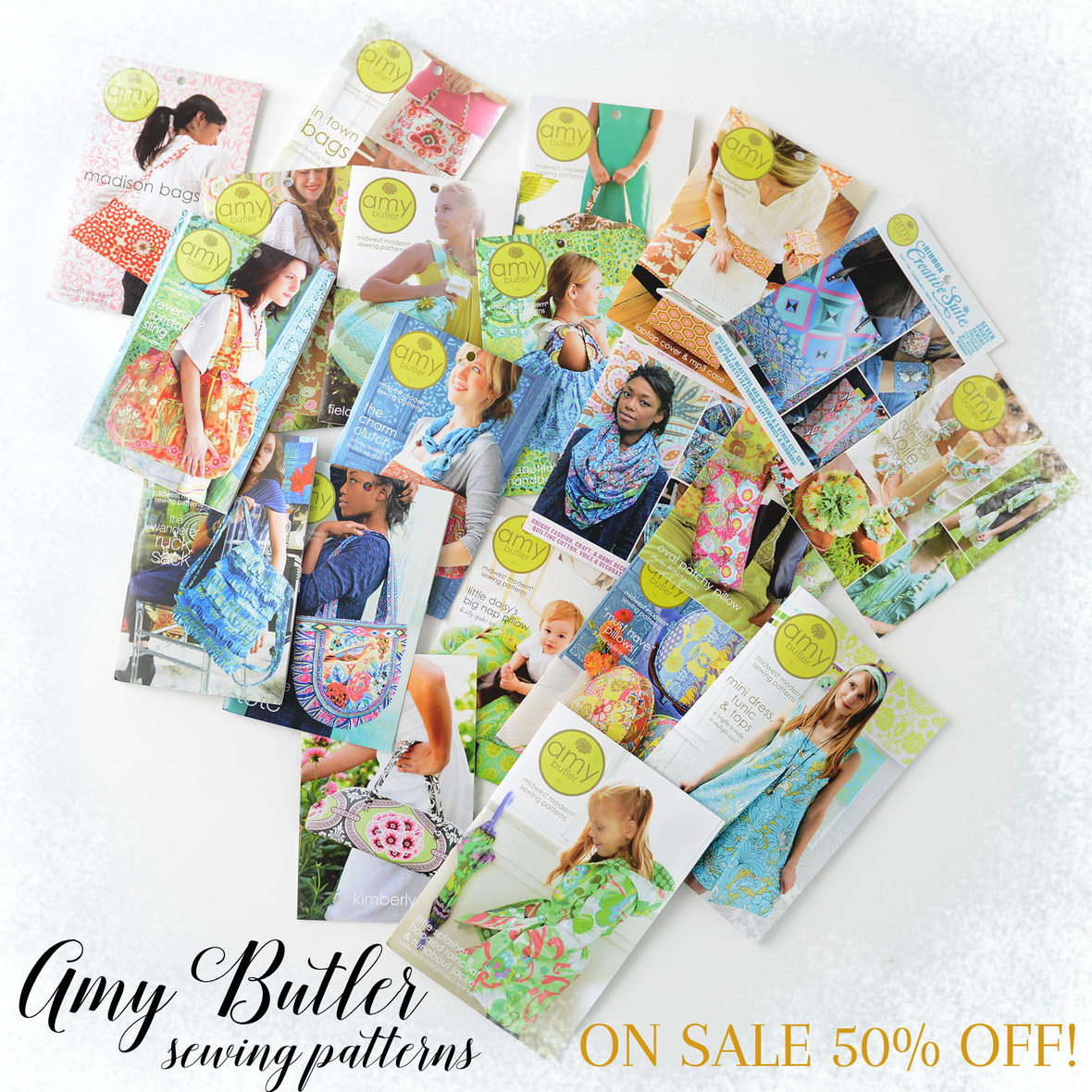 Amy Butler Sewing Patterns on Sale with frosty border 2 6x6