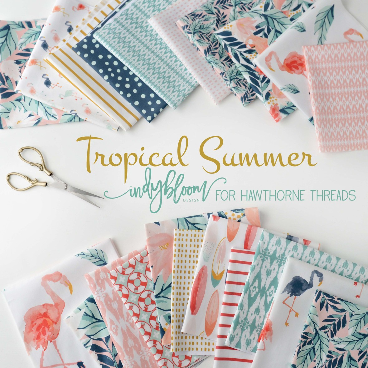 Tropical Summer Fabric Poster Indy Bloom for Hawthorne Threads