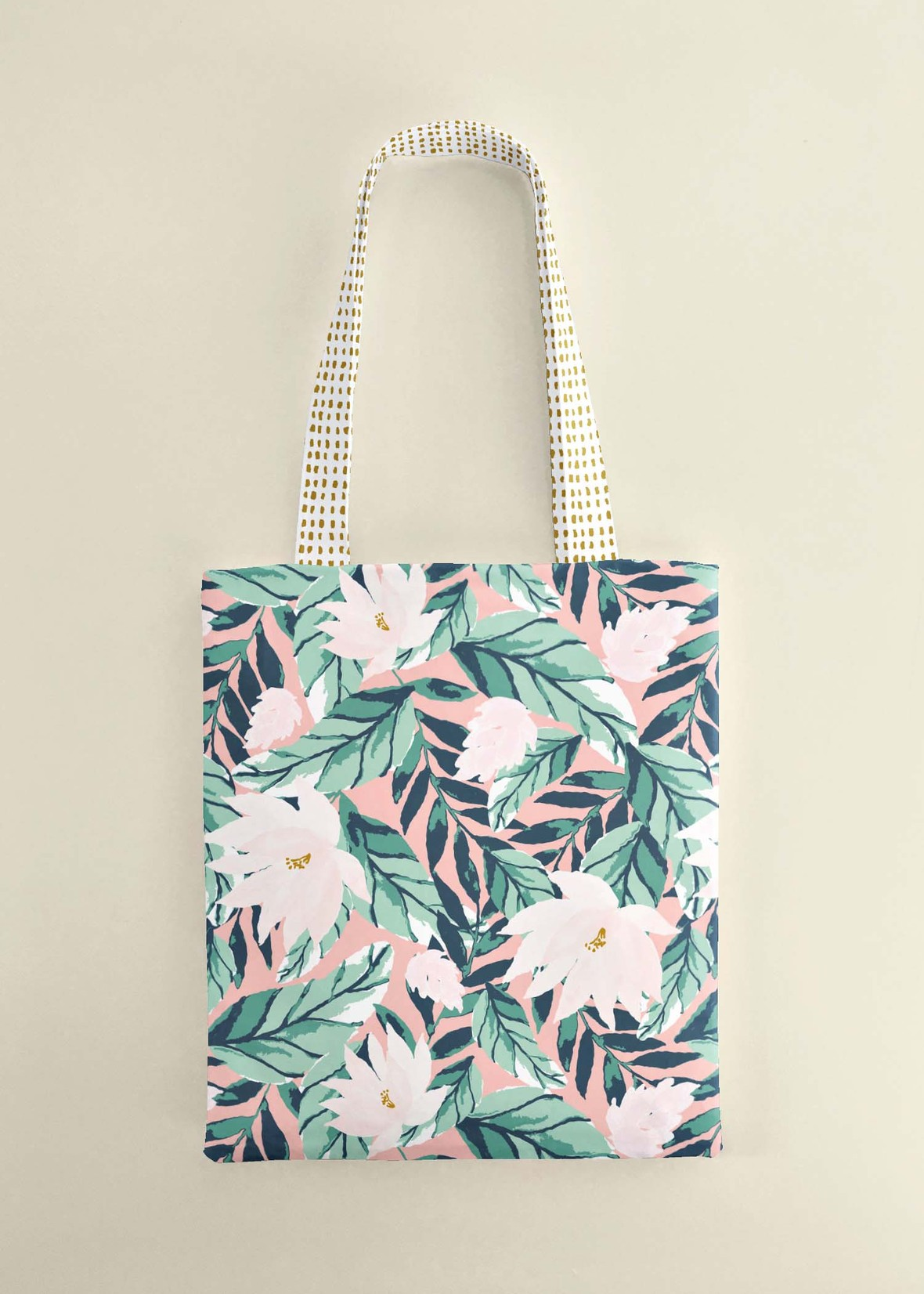 Large Summer Floral Tote Bag 2