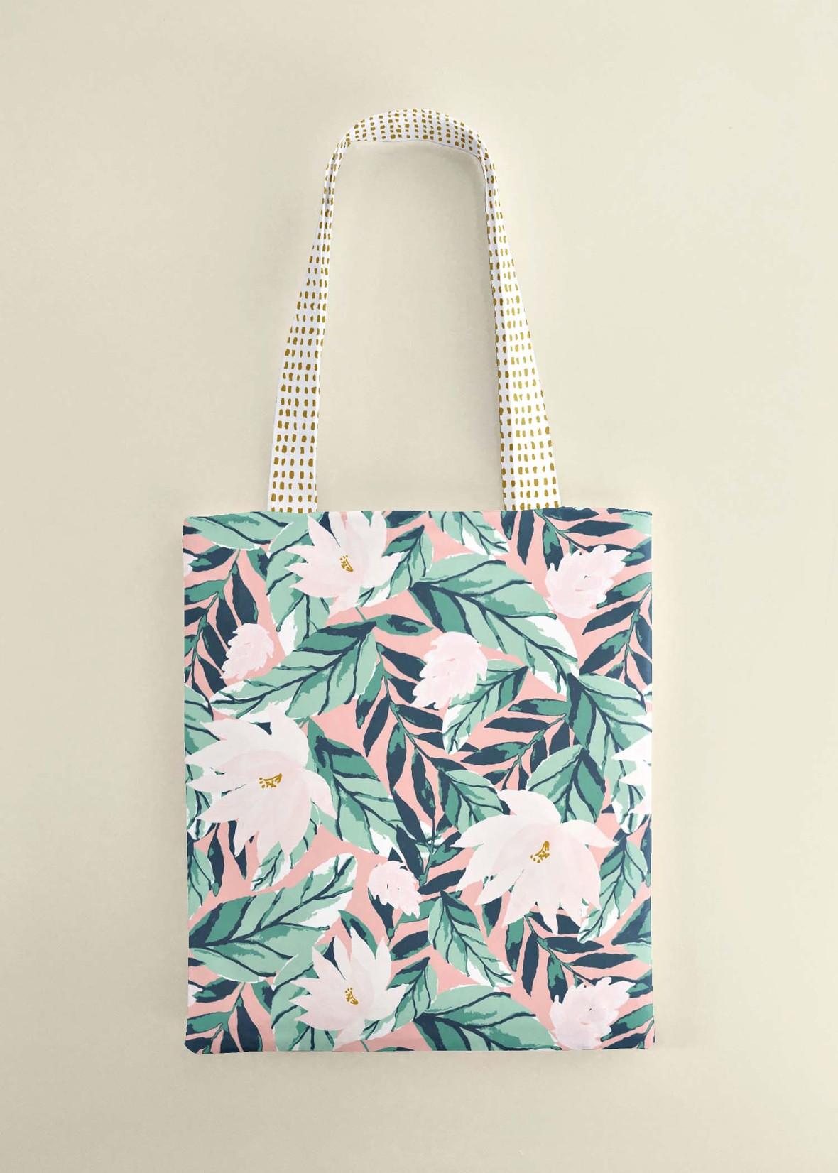 Large Summer Floral Tote Bag 2