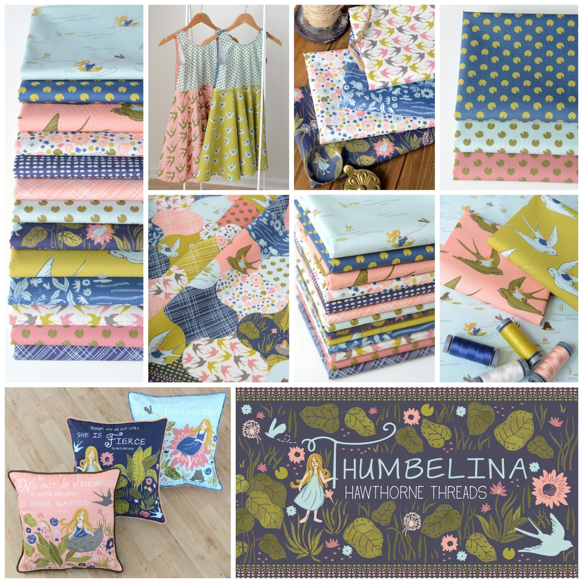 Hawthorne Threads Thumbelina Fabric Poster 2800