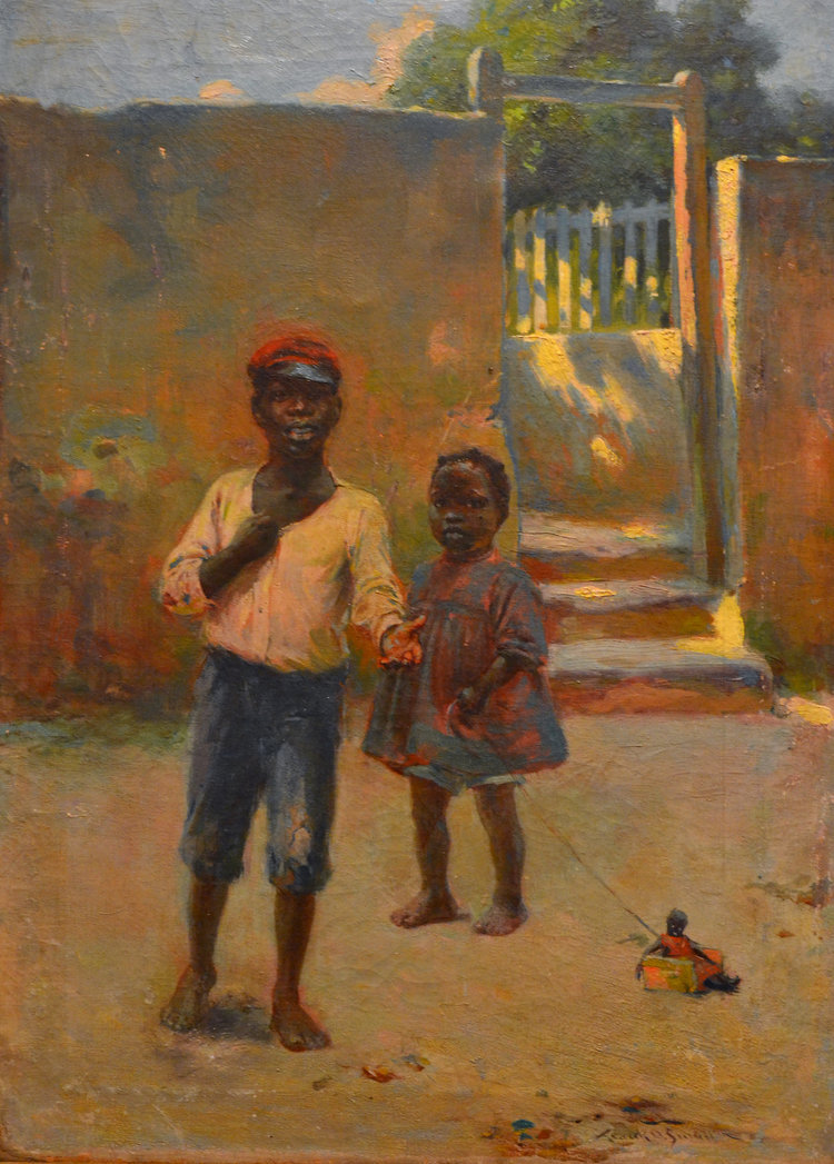 NAGB-Two children Frank Otis Small