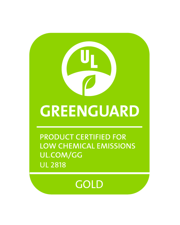 GREENGUARD UL2818 gold RGB Green