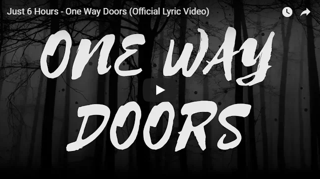 Like Going Through A Door And Not Being Able To Open It Back Up Hence Thele One Way Doors The Lyrics Use Quotes From Real Drug Addicts Just 6