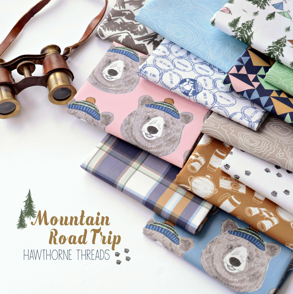 Mountain Road Trip Fabric Poster Hawthorne Threads