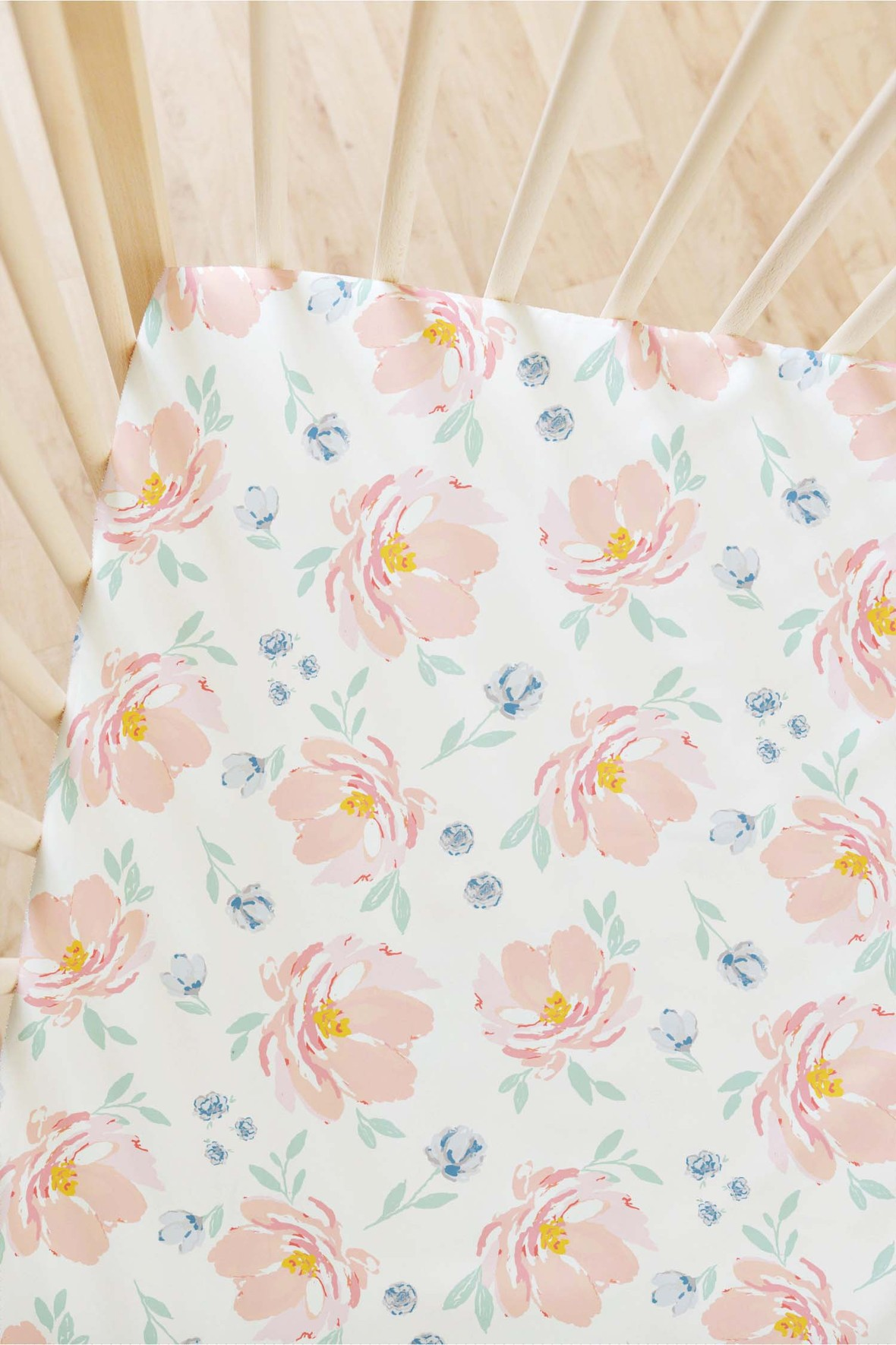 Bitter Sweet Fabric Indy Bloom Flat Crib Sheet- Baby Blush 8