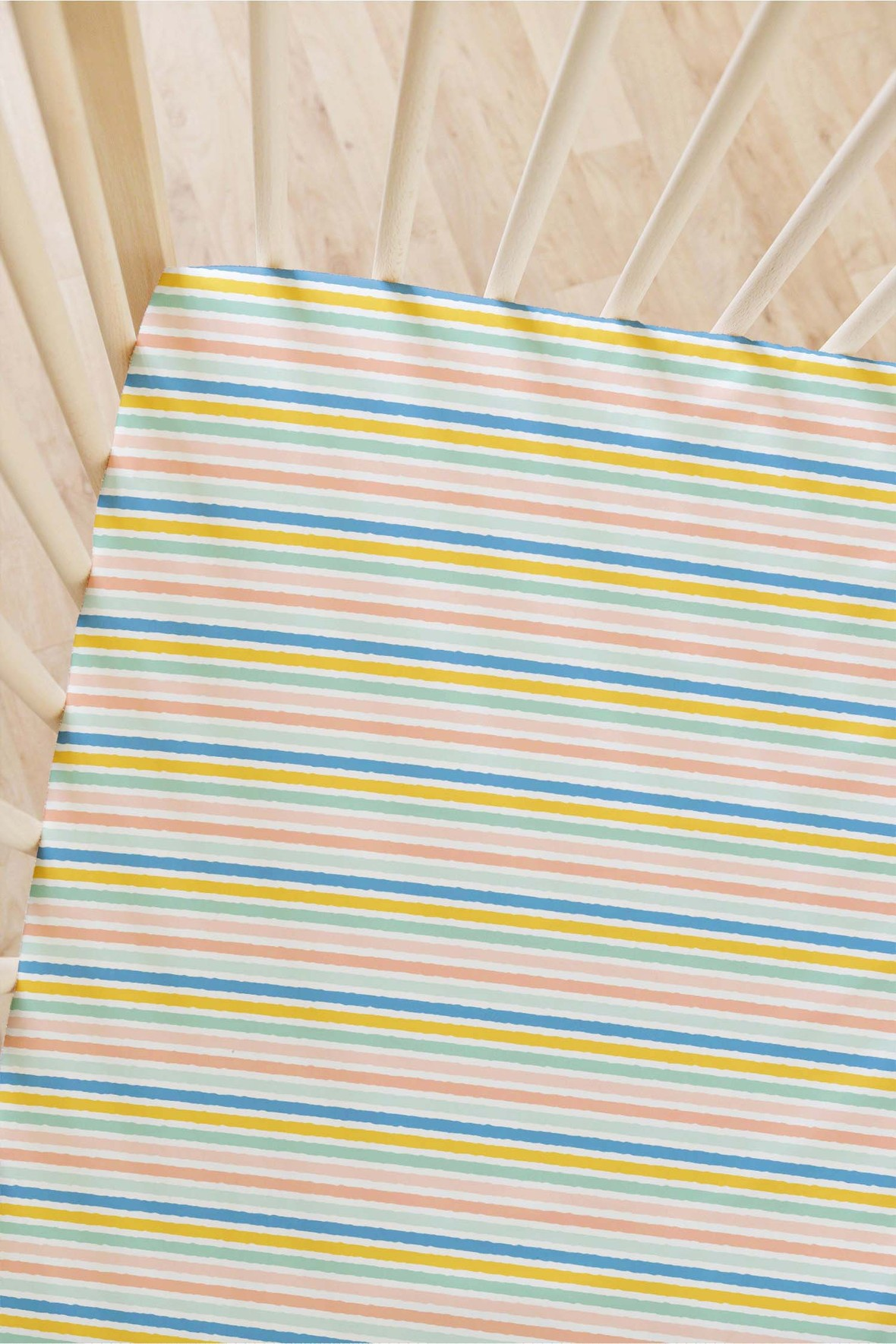Indy Bloom Bitter Sweet Flat Crib Sheet- Stripes 6
