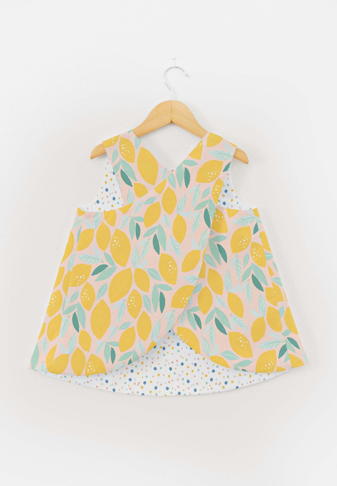 Bitter Sweet Fabric Pinafore Top- Lemons