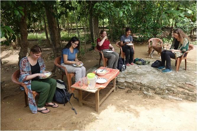 Rachel Rosenbloom Enjoying the Hospitality of the Villagers