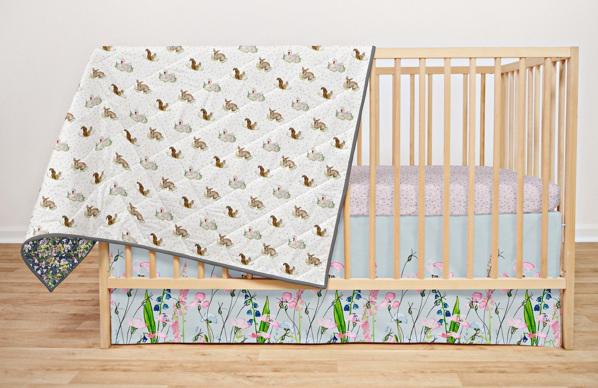 The Prairie Fabric Bec Williams for Hawthorne Crib Bedding