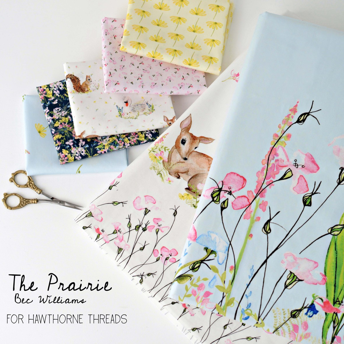 The Prairie Fabric Poster Bec Williams for Hawthorne Threads b