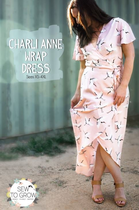 sew to grow  charli anne wrap dress sewing pattern