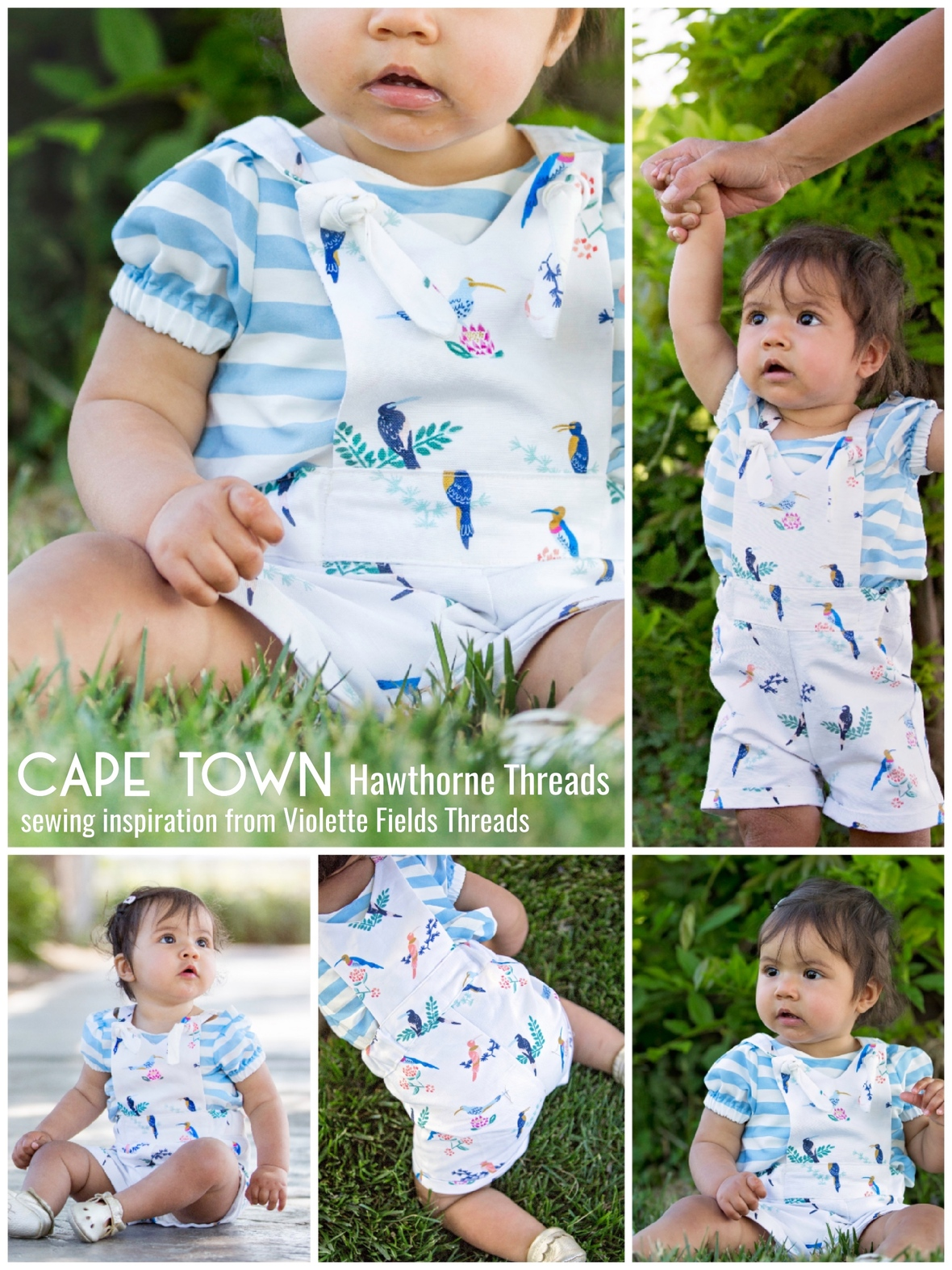 Hawthorne Cape Town Fabric Overalls by Violette Fields Threads