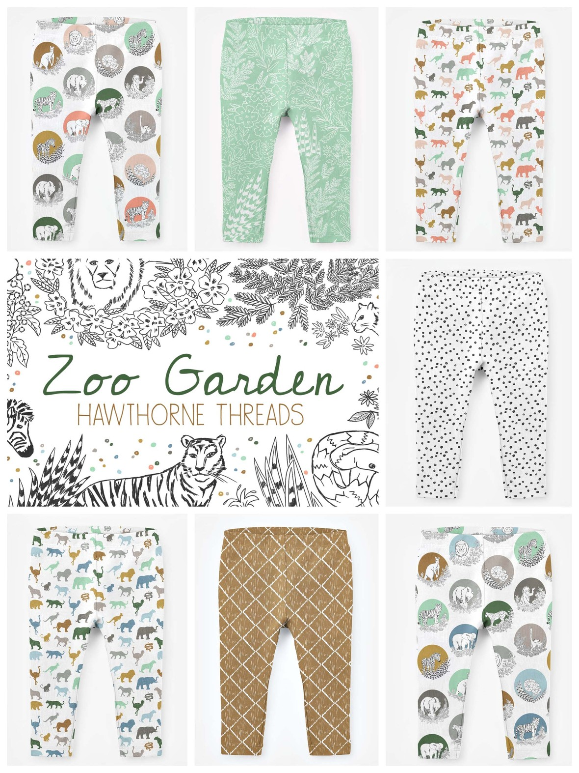 Zoo Garden Jersey Knit Leggings