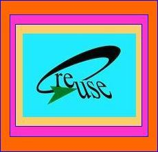 Reuse symbol bl on gold-hot pink -or