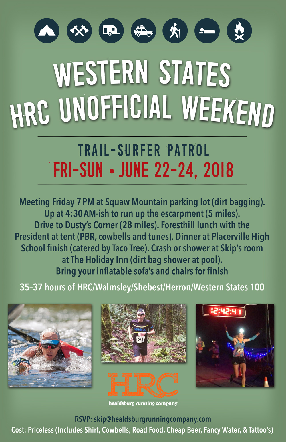 unofficial western trail patrol poster