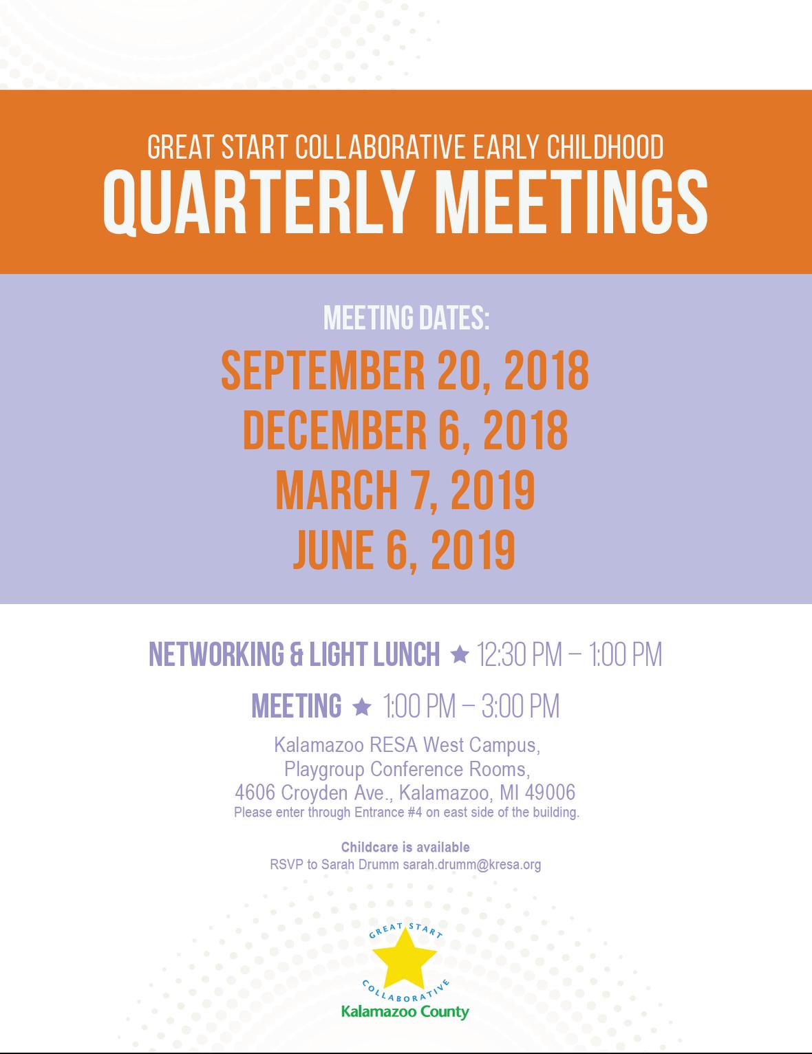 2018.2019 quarterly meeting dates