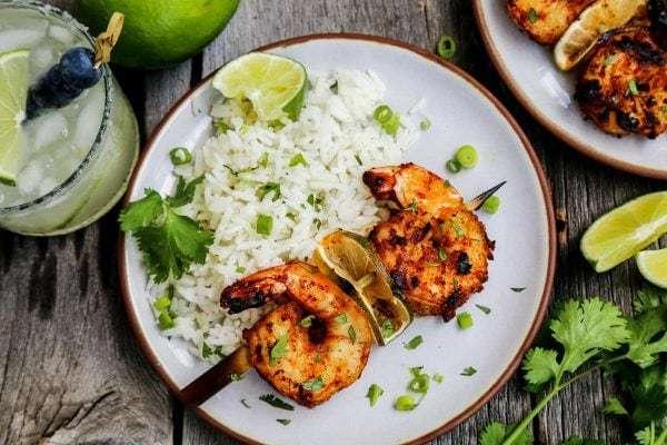 Grilled-Margarita-Shrimp-Kebabs AFarmgirlsDabbles AFD-2-2-600x400
