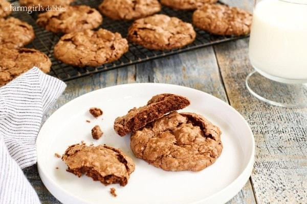 Fudgy-Chocolate-Meringue-Cookies AFarmgirlsDabbles AFD-3-600x400