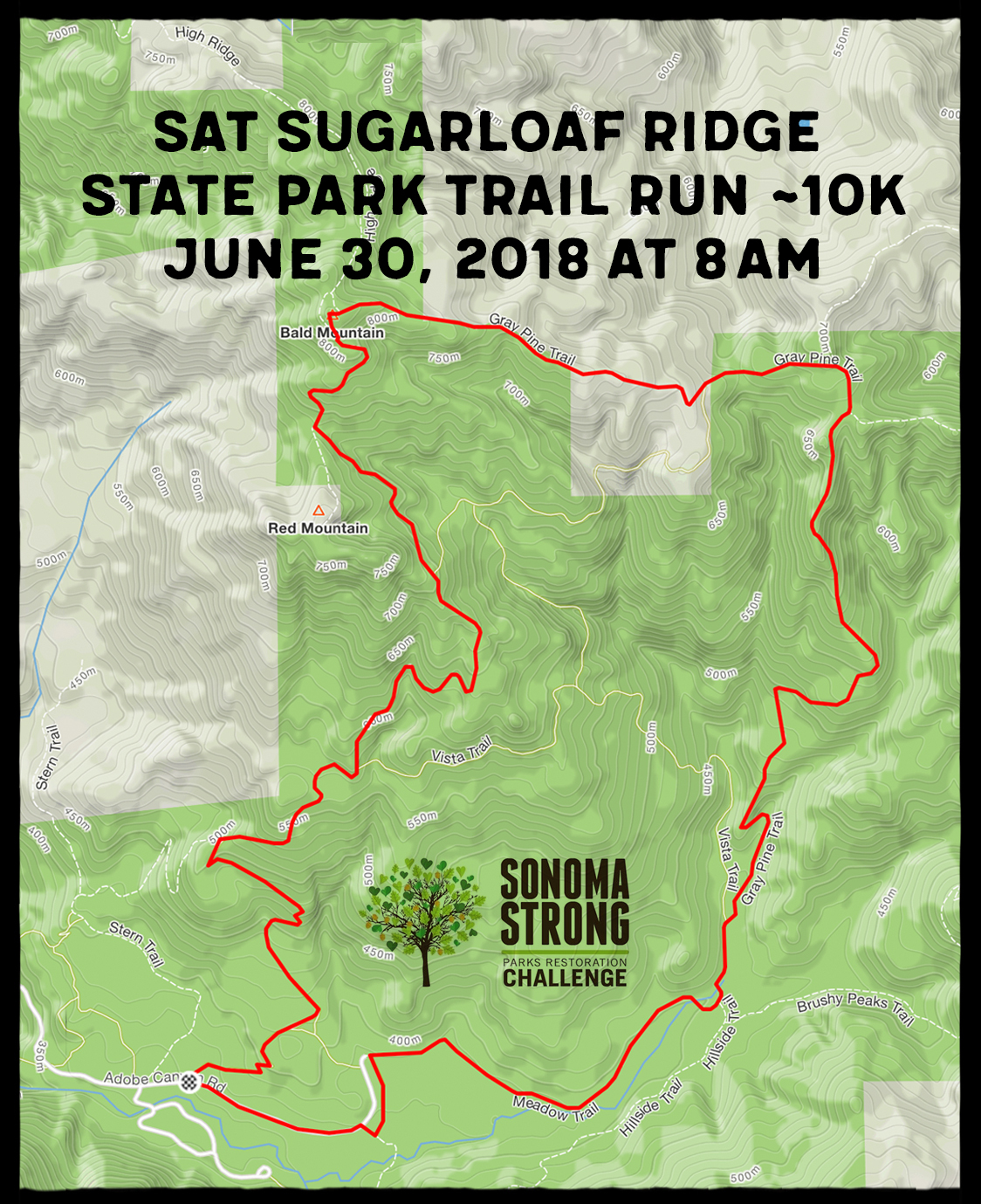 sugarloaf terrain map