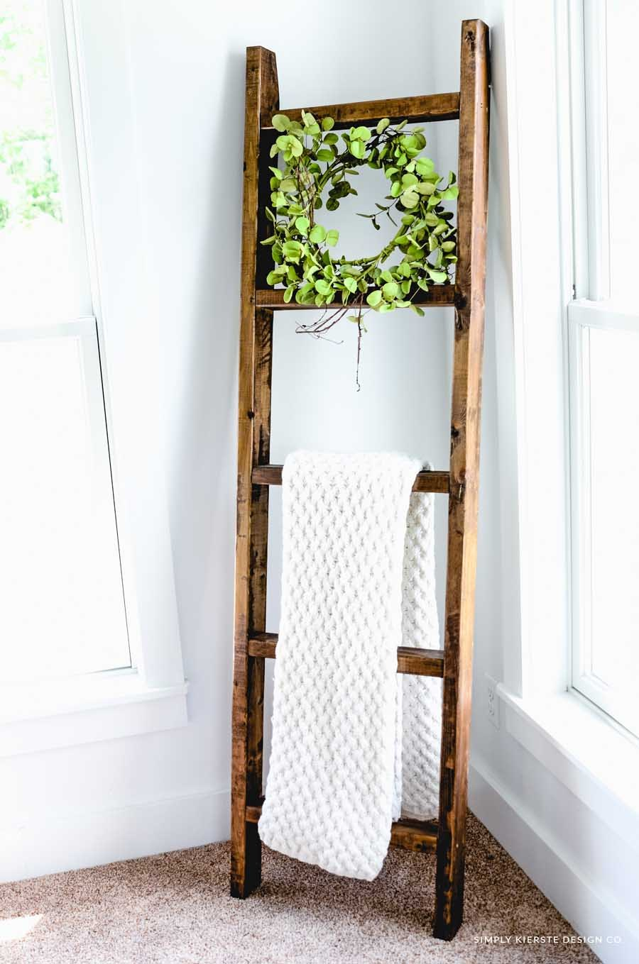 e7e830abfd Make this darling Wooden Blanket Ladder in less than an hour...for ...