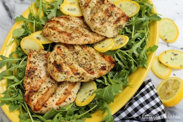 Herbs-de-Provence-Chicken-Breasts-Grilled-Under-a-Brick AFarmgirlsDabbles AFD-3-600x400