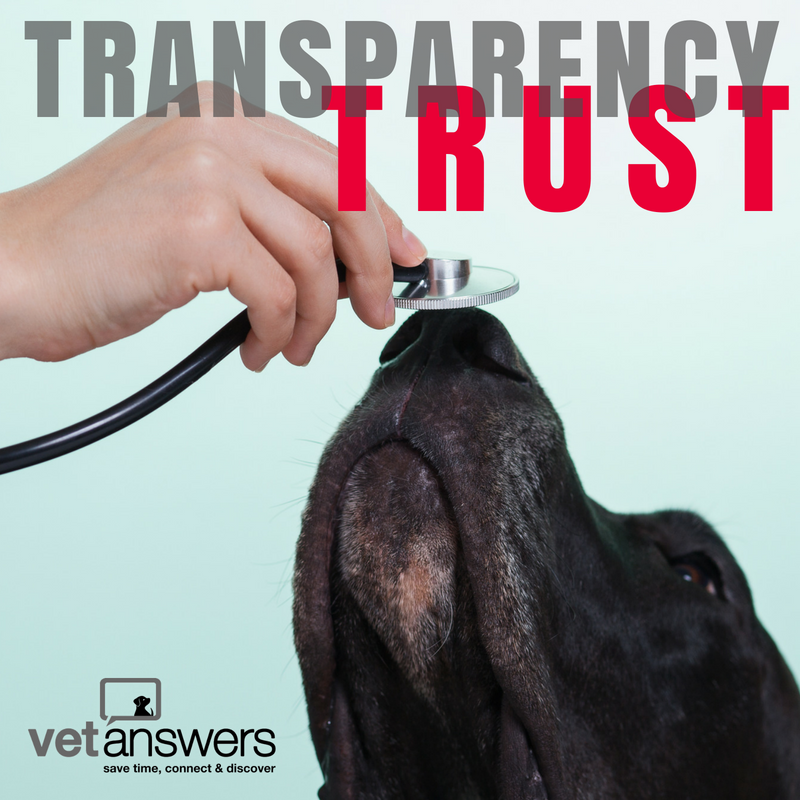 Transparency builds trust in your veterinary practice