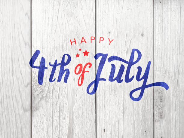 happy-4th-of-july-typography-picture-id697459528