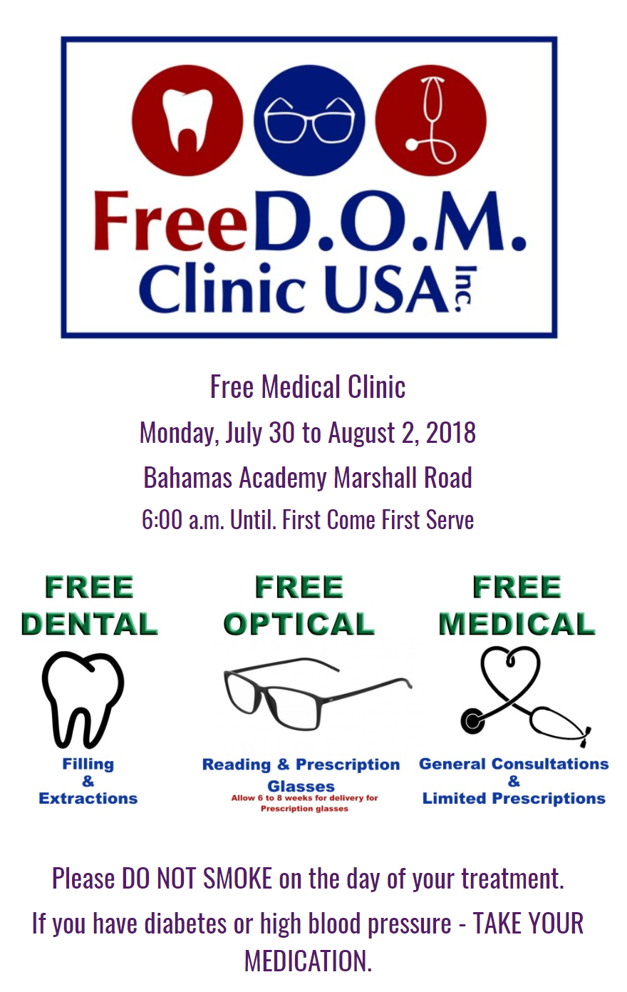 Four-day FREE Medical Clinic in Nassau!!