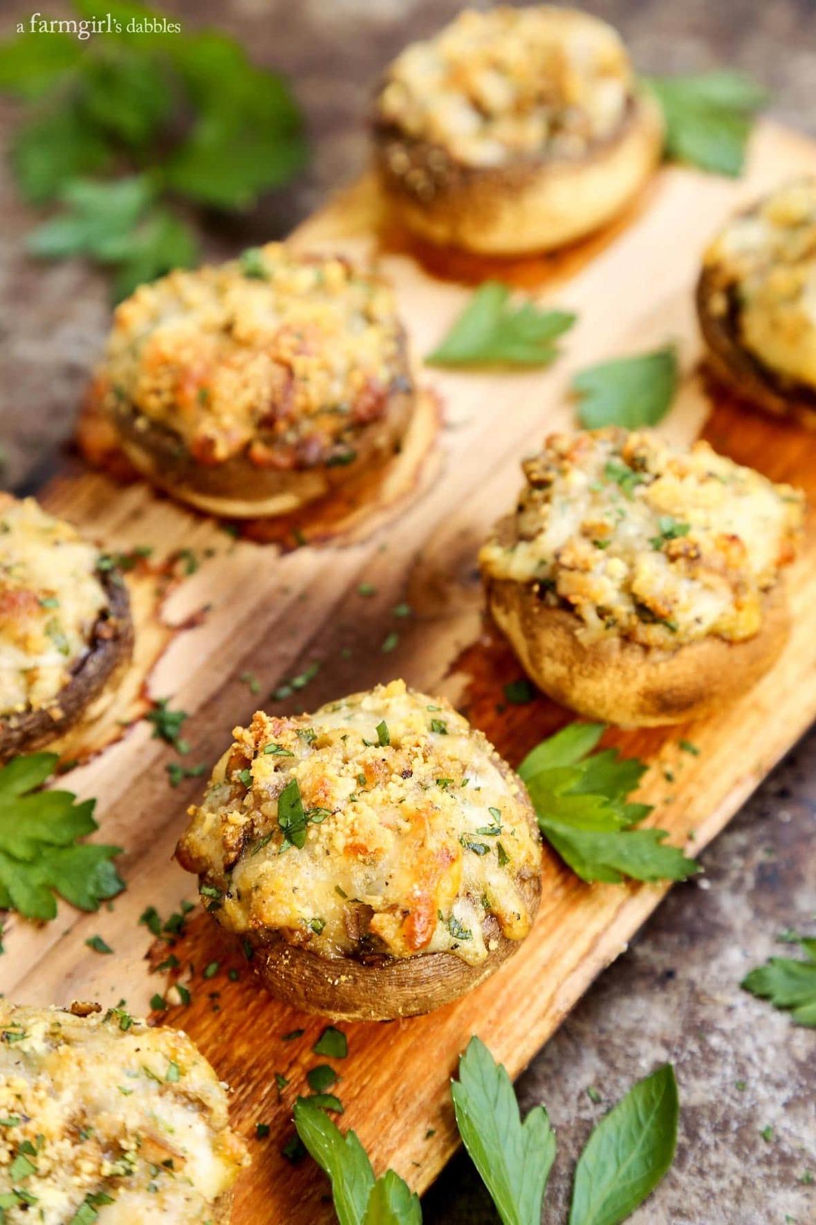 Cheesy-Stuffed-Mushrooms-Grilled-on-a-Cedar-Plank AFarmgirlsDabbles AFD-7