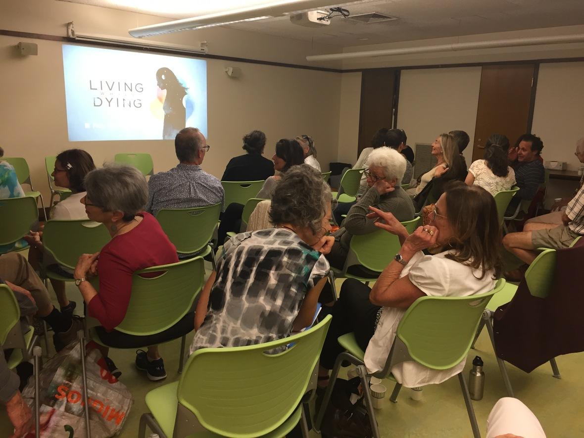 talking audience in Brattleboro