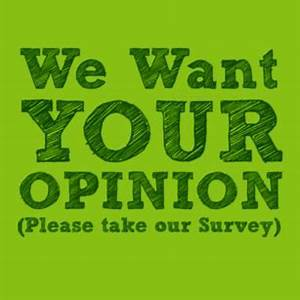 we want your opinion image