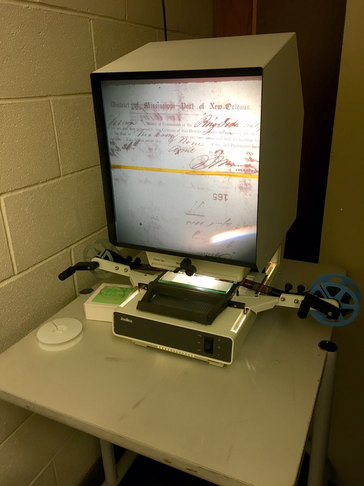 Kidd Microfilm Reader Donation