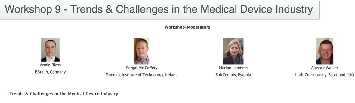 Medical device workshop at EuroSPI