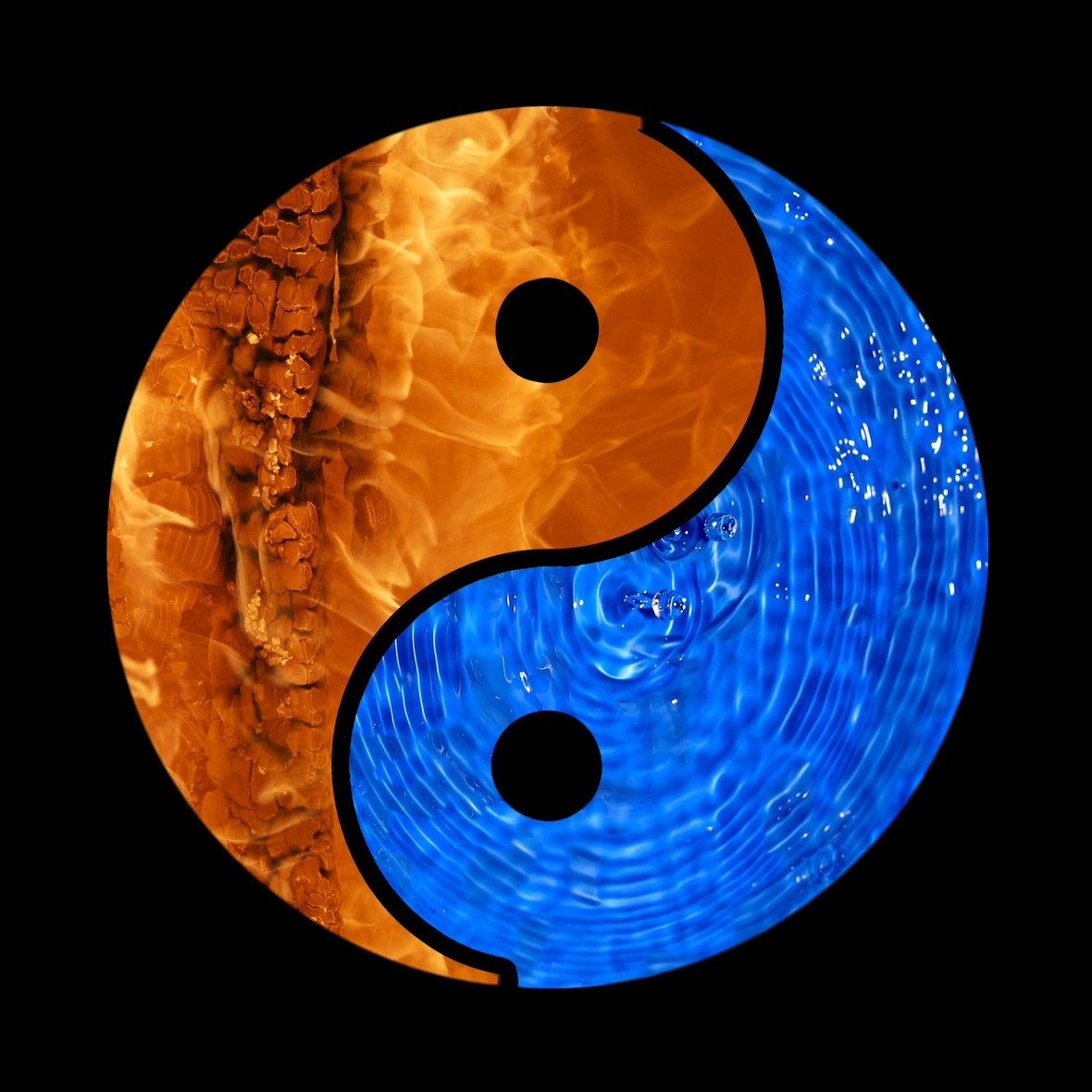 yin yang agua fuego