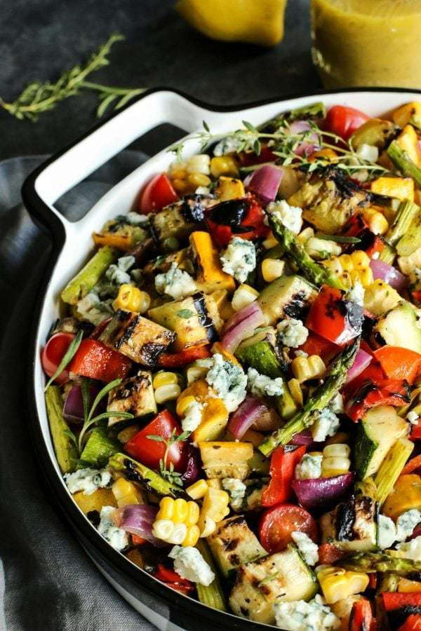 grilled-vegetable-salad AFarmgirlsDabbles AFD-5-1-600x900