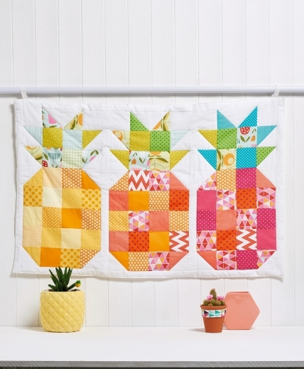 sewmag.co.uk- free pineapple block sewing tutorial